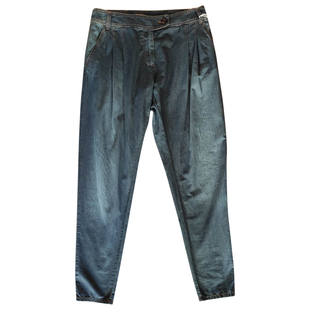 Galliano \N Blue Cotton Jeans for Women 25 US