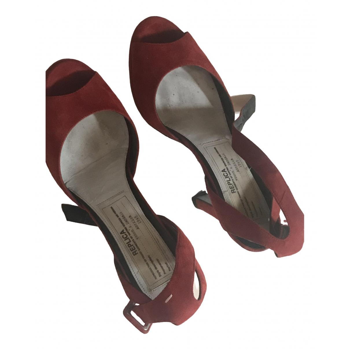 Maison Martin Margiela \N Red Suede Sandals for Women 36 EU