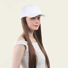 Natural Long Wig With Baseball Cap