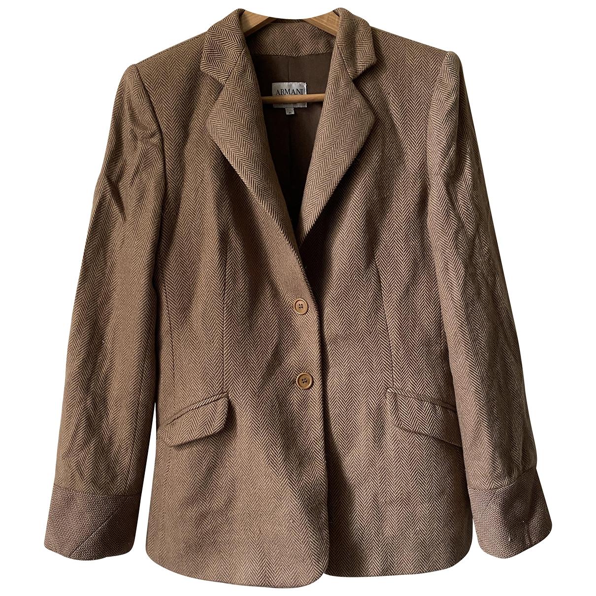 Armani Collezioni \N Camel Fur jacket for Women 44 IT