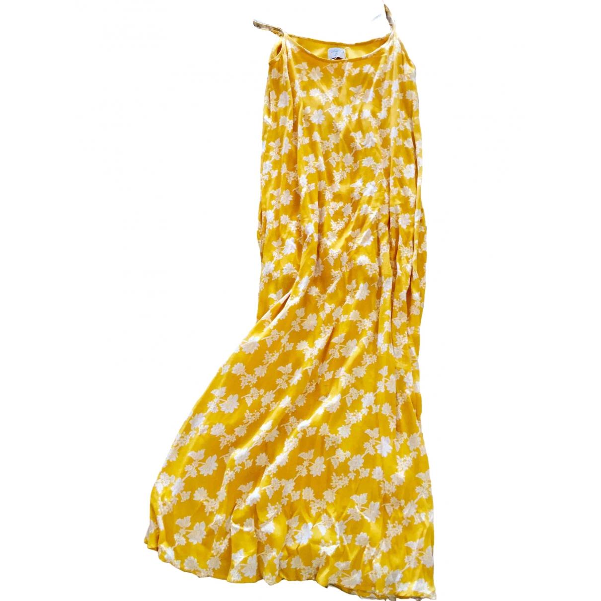 Non Signe / Unsigned \N Kleid in  Gelb Baumwolle