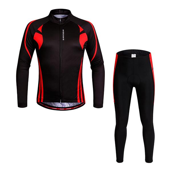 Mens Thermal Biking Outfit 3D Padded Shorts Set Cycling Clothing