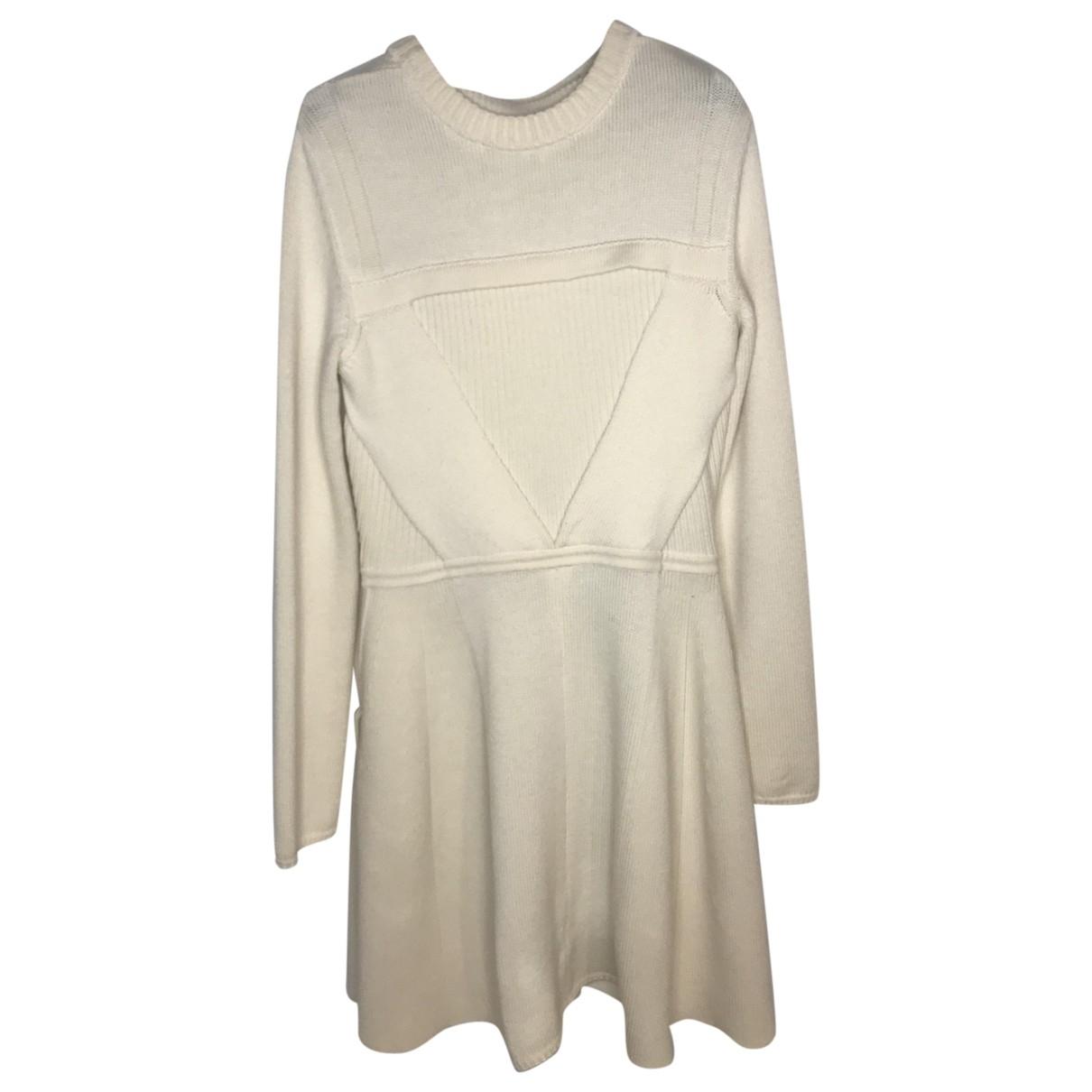 Dior - Robe   pour femme en laine - blanc