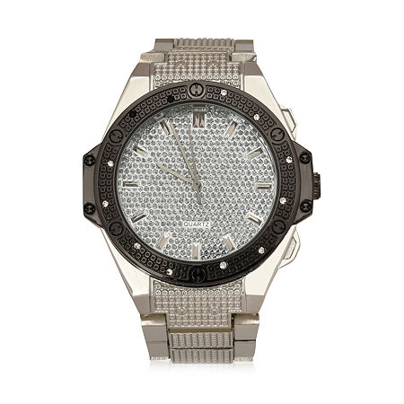 Geneva Mens Silver Tone Bracelet Watch-Mac8042jc, One Size , No Color Family