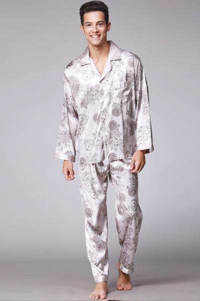 Luxury Floral Pattern Men's Special Cozy Pajamas