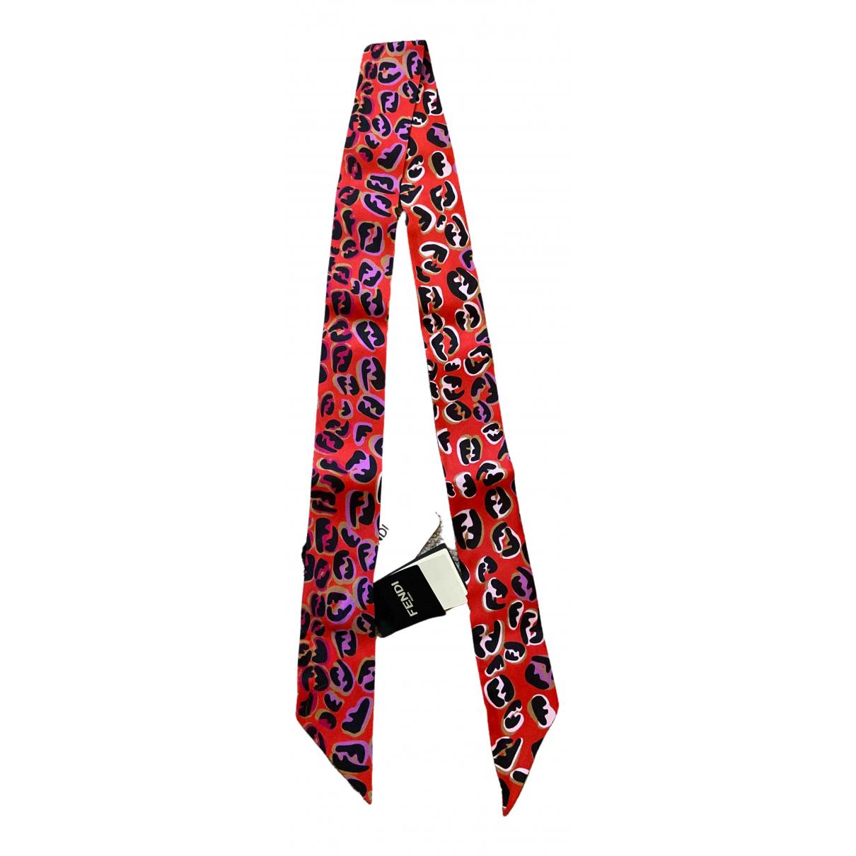 Fendi - Foulard   pour femme en soie - rouge