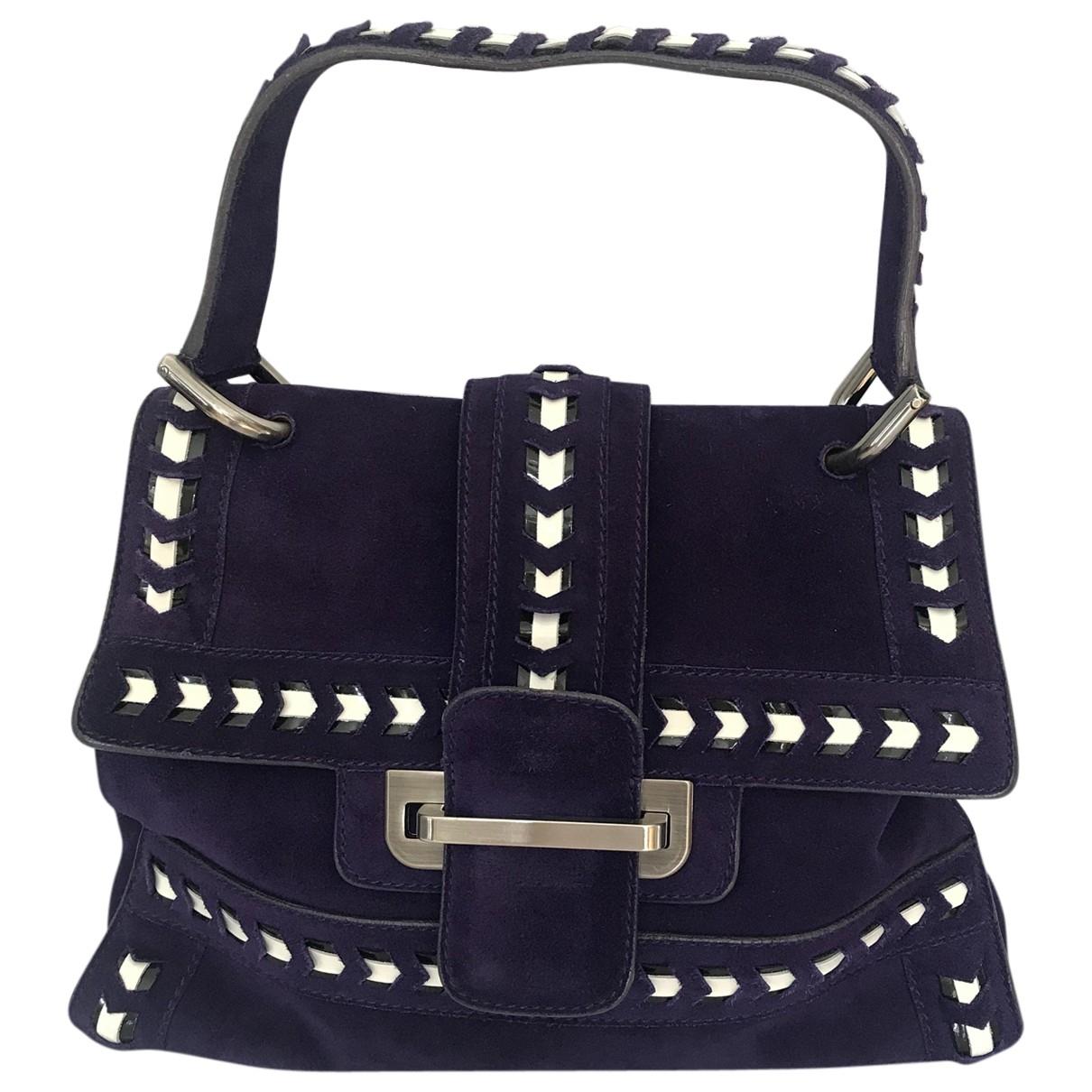 Pollini \N Handtasche in  Lila Veloursleder