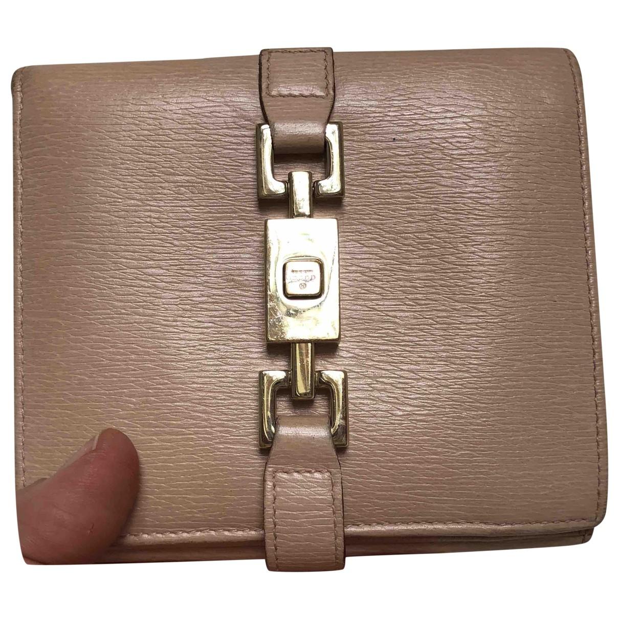 Gucci \N Portemonnaie in  Rosa Leder