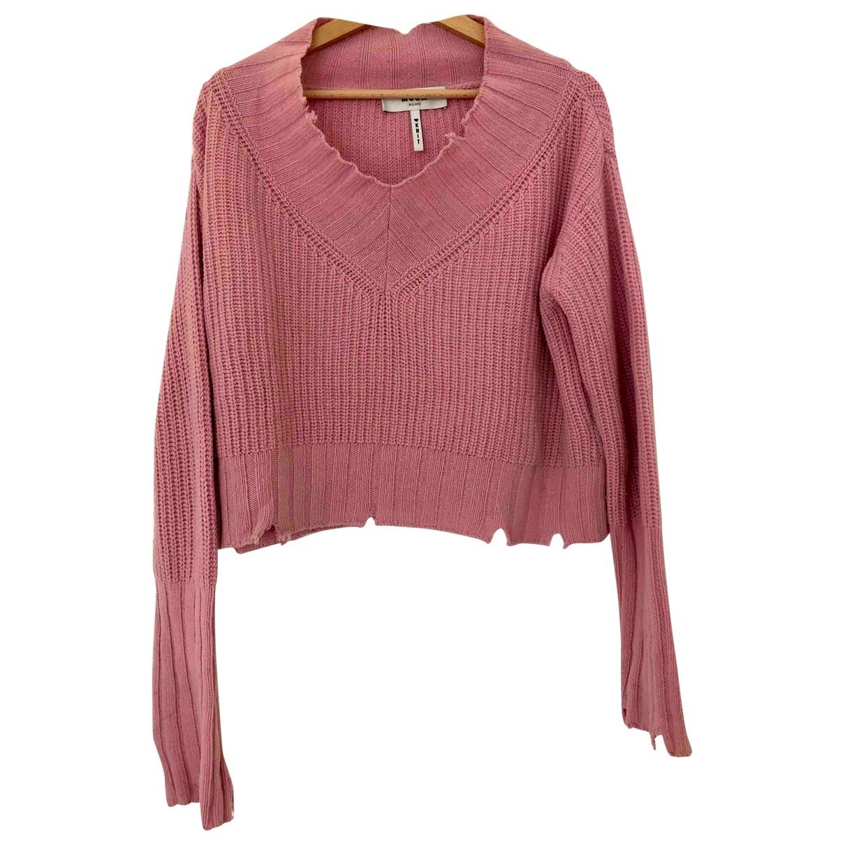 Msgm - Pull   pour femme en laine - rose