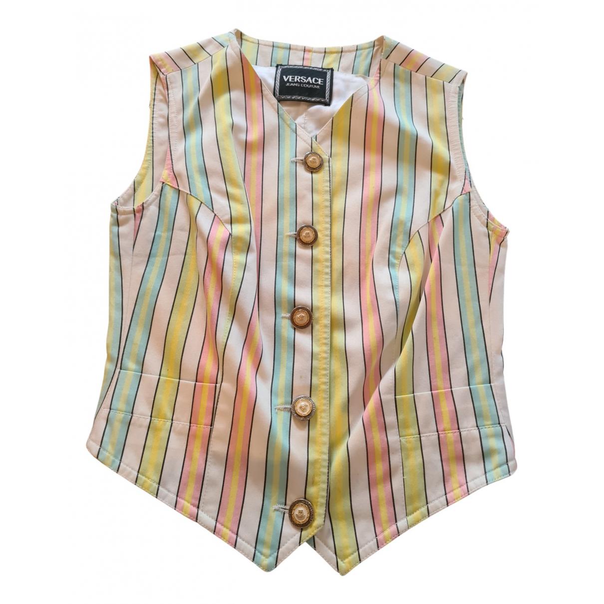 Versace Jean - Pull   pour femme en coton - multicolore