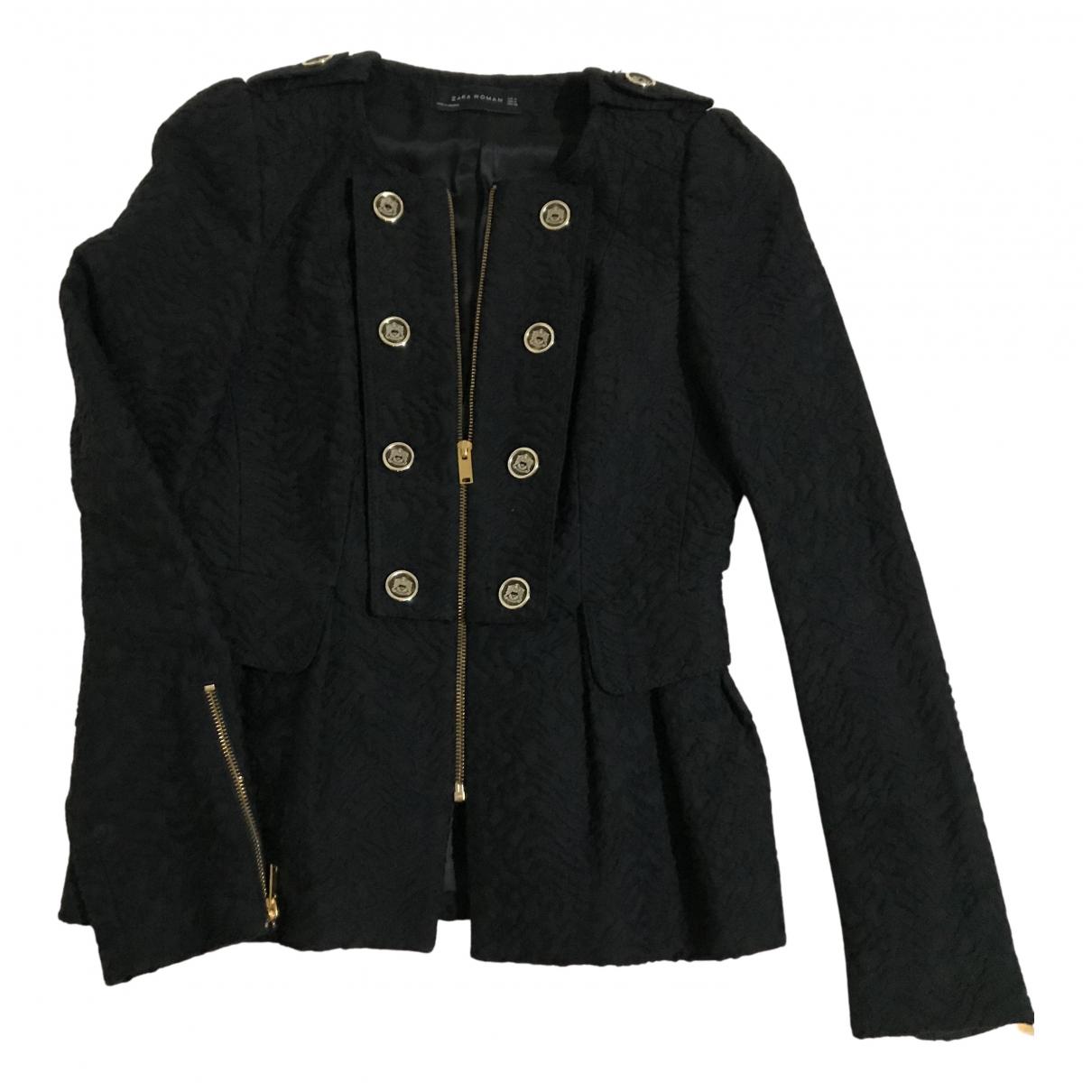 Zara \N Jacke in  Schwarz Wolle