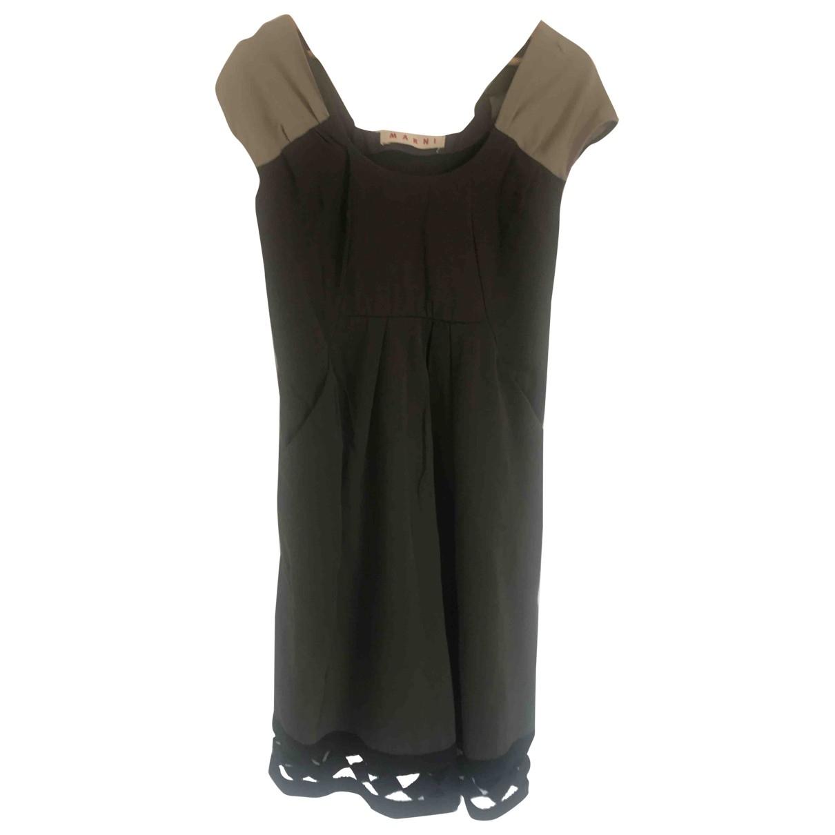 Marni \N Green Wool dress for Women 42 IT