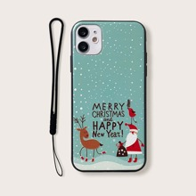 Christmas Print iPhone Case With Lanyard
