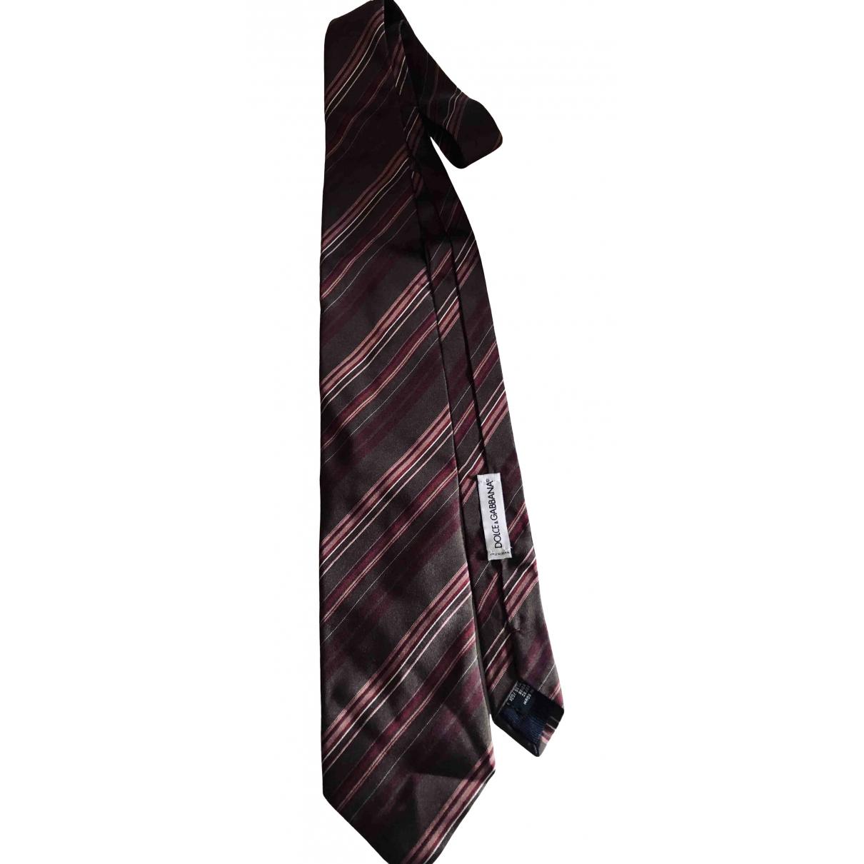 Dolce & Gabbana \N Krawatten in  Braun Seide