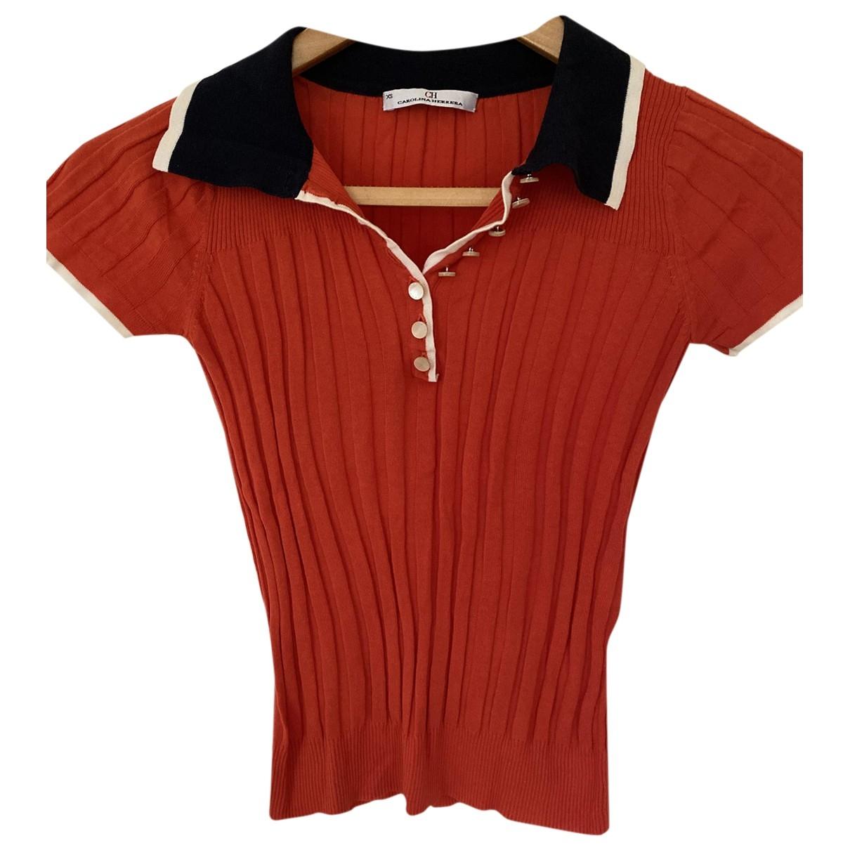 Carolina Herrera - Top   pour femme en coton - orange