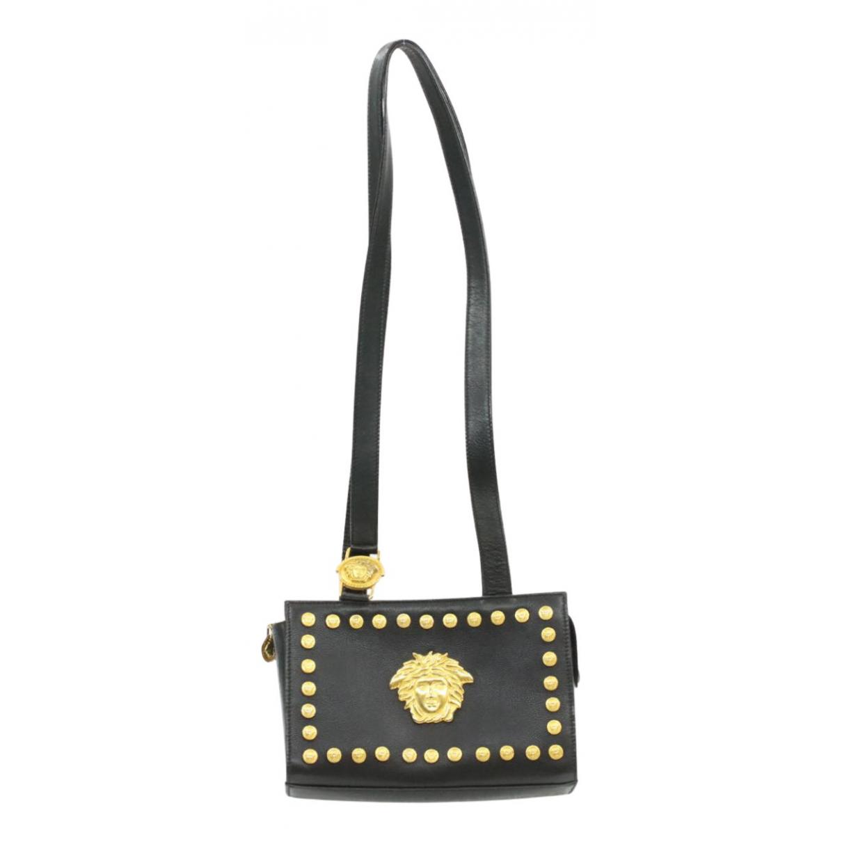 Versace N Black Leather handbag for Women N