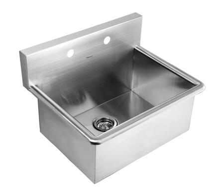 WHNC2520 Noah's Collection Brushed Stainless Steel commercial drop-in laundry-scrub
