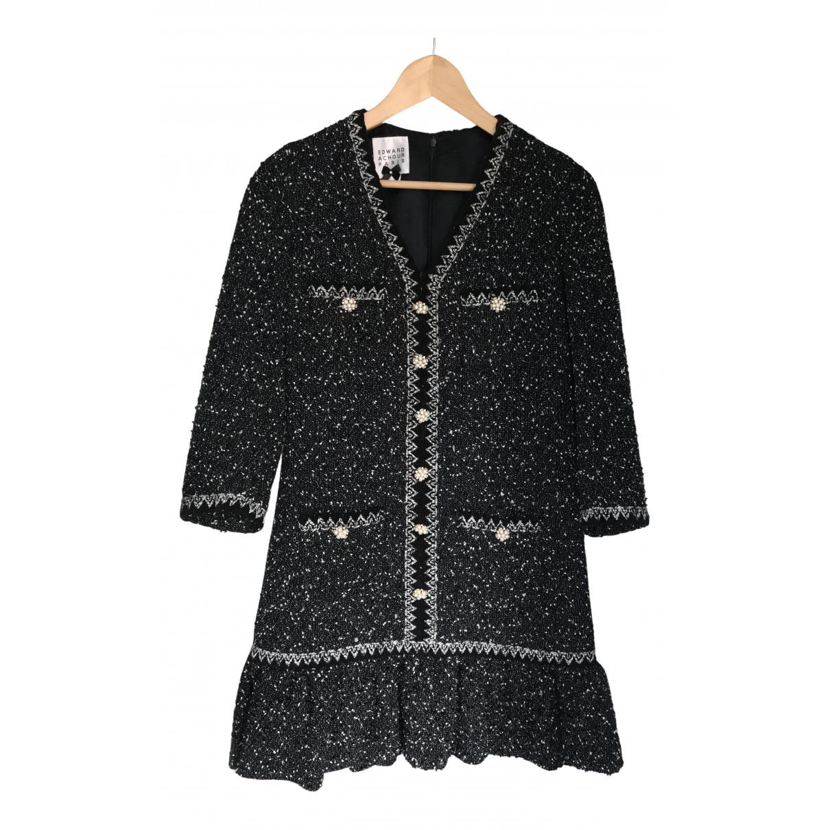 Edward Achour \N Kleid in  Schwarz Tweed