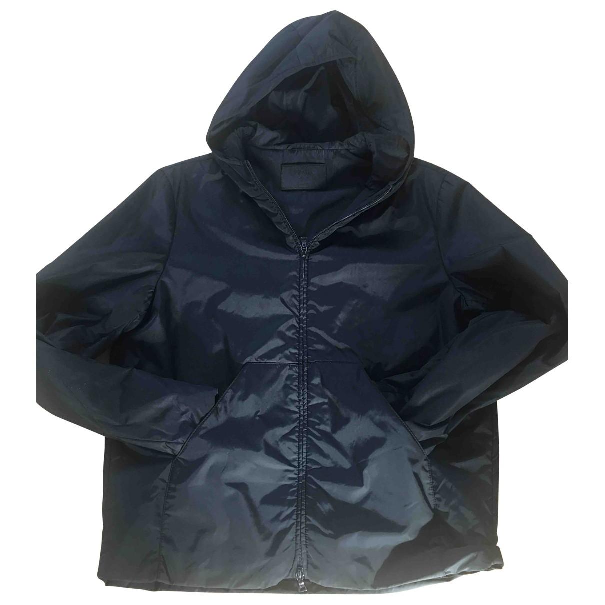Prada \N Black Leather jacket for Women 44 IT