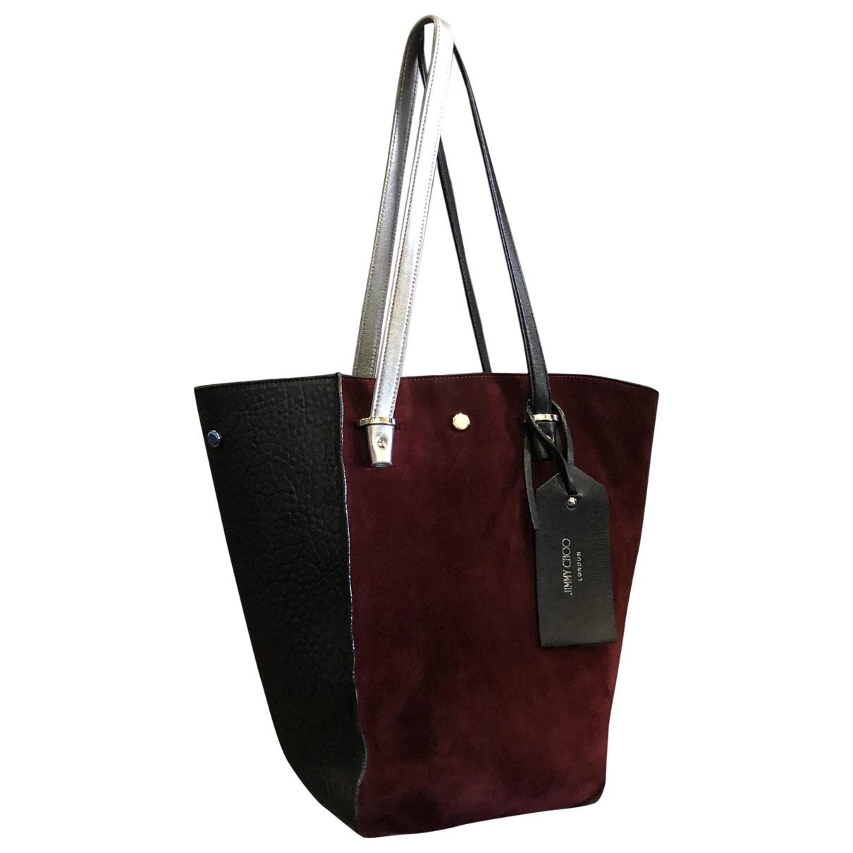Jimmy Choo \N Handtasche in  Bordeauxrot Veloursleder