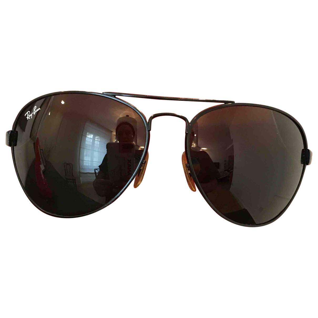 Ray-ban Aviator Black Metal Sunglasses for Women N