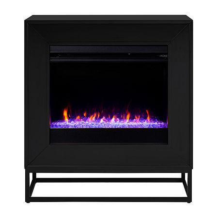 Southern Enterprises Electric Fireplace, One Size , Black