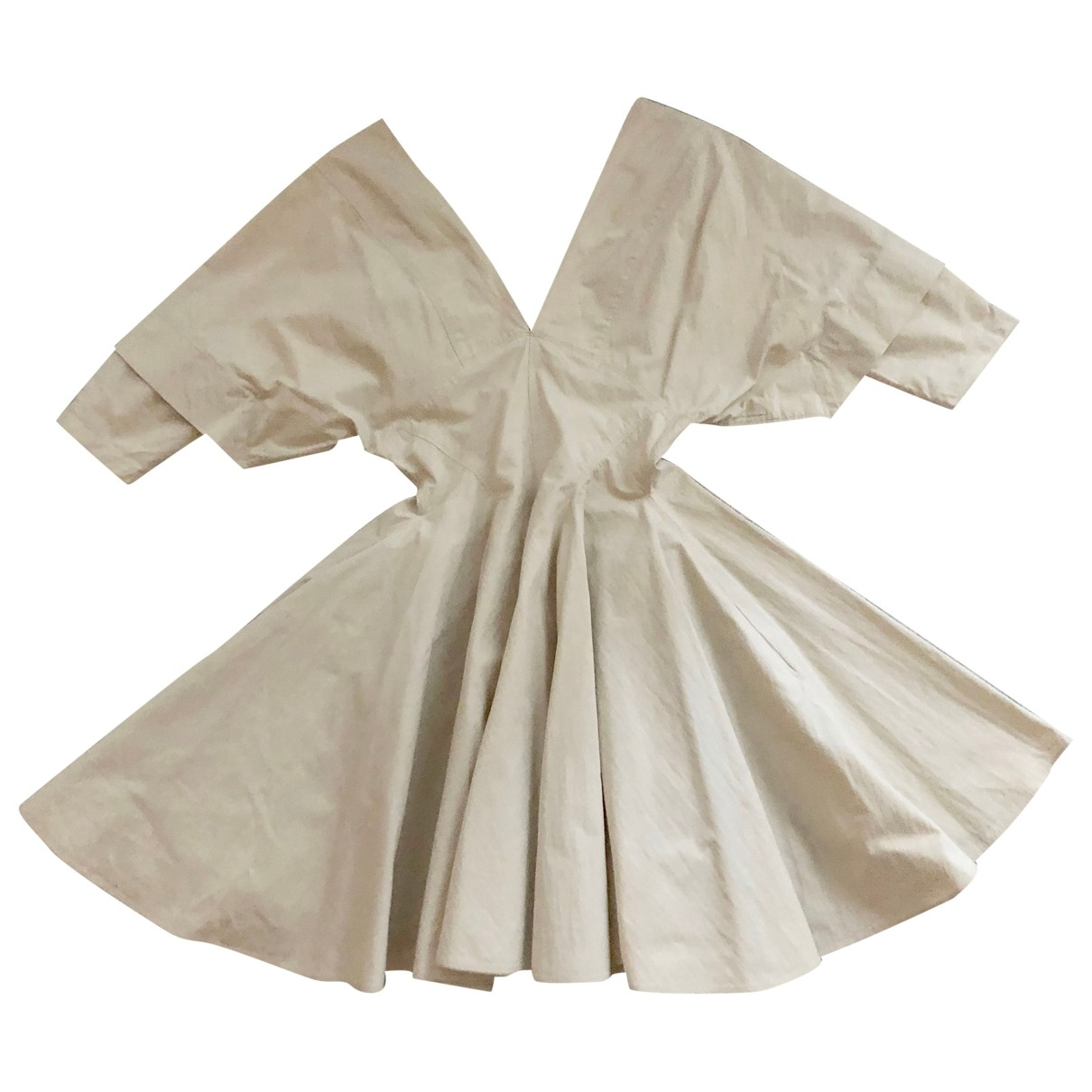 Alaia \N Kleid in  Beige Baumwolle