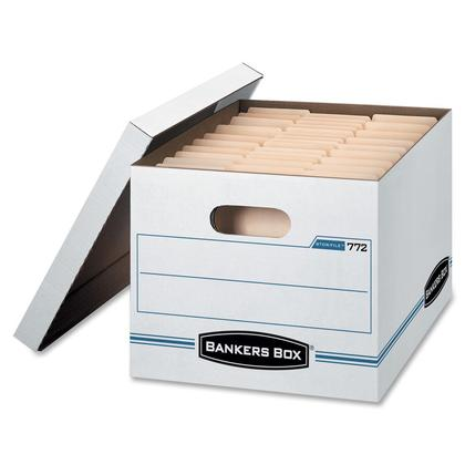 Bankers Box@ Stor/File Letter/Legal Size Basic-Duty Storage Box, 25/Pack (00772)