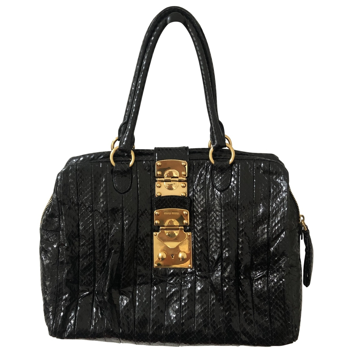 Miu Miu \N Black Water snake handbag for Women \N