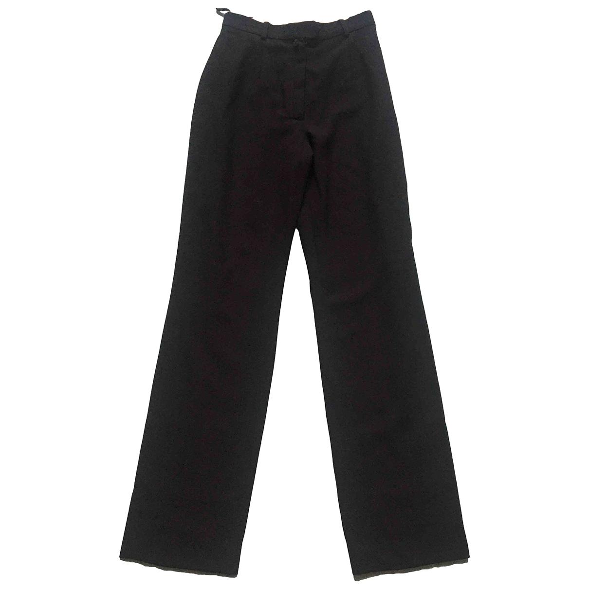 Dior \N Hose in  Schwarz Wolle