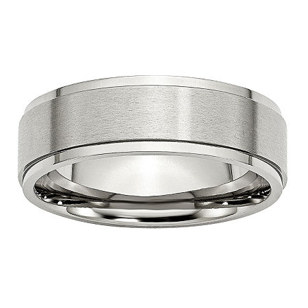 Mens 7mm Stainless Steel Wedding Band, 9 , No Color Family