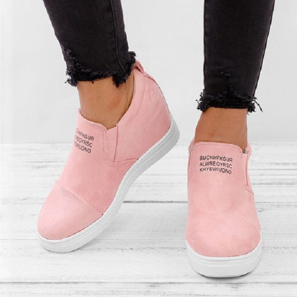 Big Size Women Daily Comfy Suede Height Increased Slip On Flat Short Boots