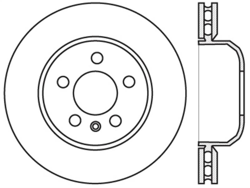 StopTech 126.34131SL Sport Slotted Brake Rotor; Front and Rear Left BMW Rear Left