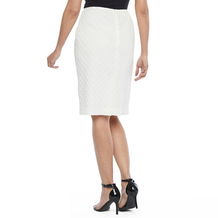 Black Label by Evan-Picone Suit Skirt, 18 , White