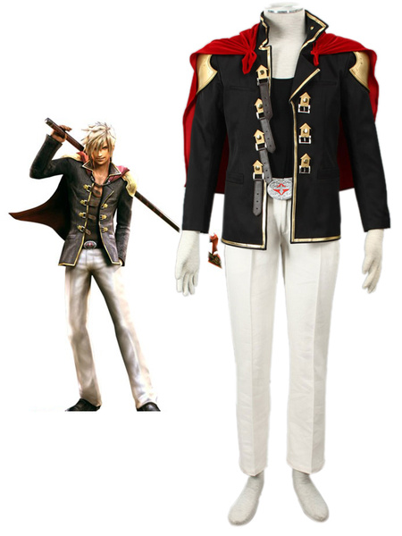 Milanoo Final Fantasy Type-0 Suzaku Peristylium Class Zero NO.9 Nine Cosplay Costume Halloween