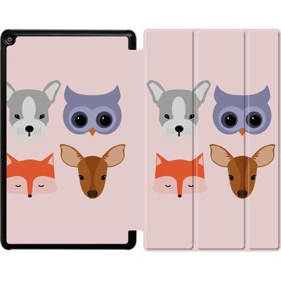 Amazon Fire HD 10 (2018) Tablet Smart Case - Animal Friends on Pink von caseable Designs