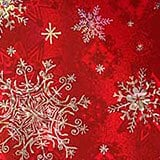 Bright Red Snowflakes Gift Wrap - 24 X 417' - Gift Wrapping Paper - Type: Snowflake Holographic On 60# Paper by Paper Mart