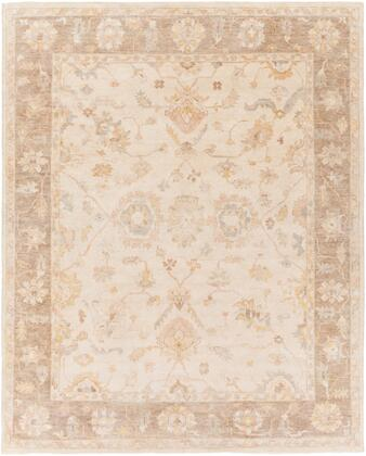 Normandy NOY-8004 9' x 13' Rectangle Traditional Rug in Ivory  Taupe  Butter  Blush  Light