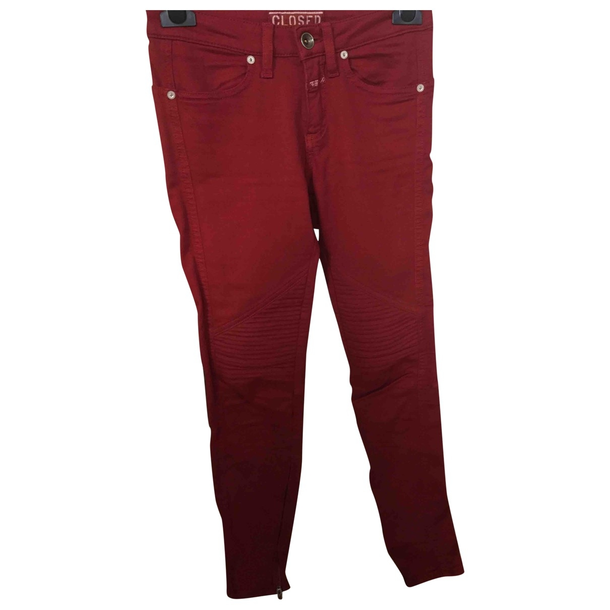 Closed \N Red Cotton - elasthane Jeans for Women 36 FR