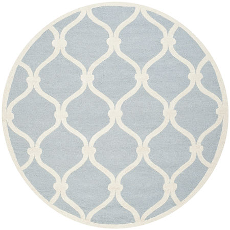 Safavieh Bois Geometric Hand-Tufted Wool Rug, One Size , Blue