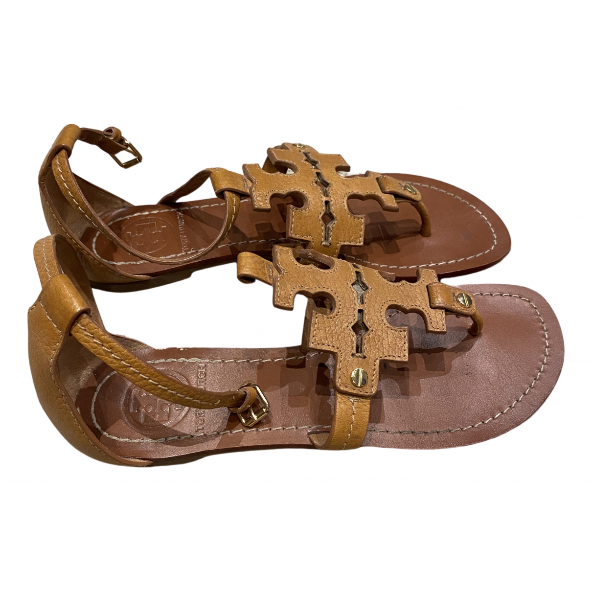 Sandalias romanas de Cuero Tory Burch