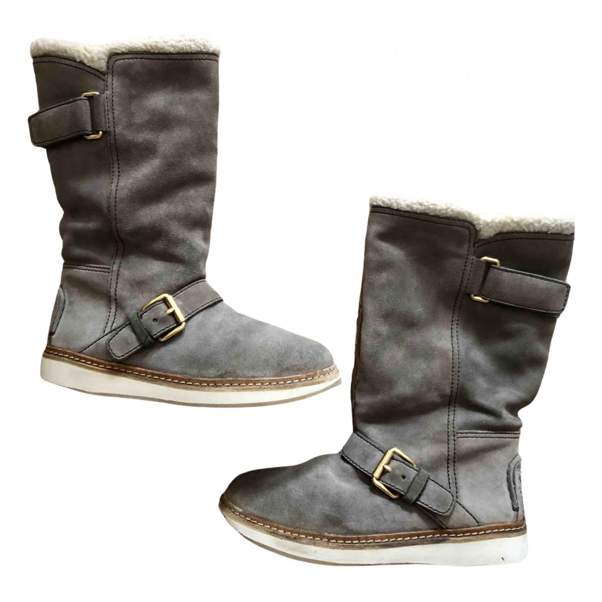 Carshoe \N Stiefel in  Beige Veloursleder
