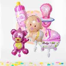 7 piezas set de globo con dibujos animados
