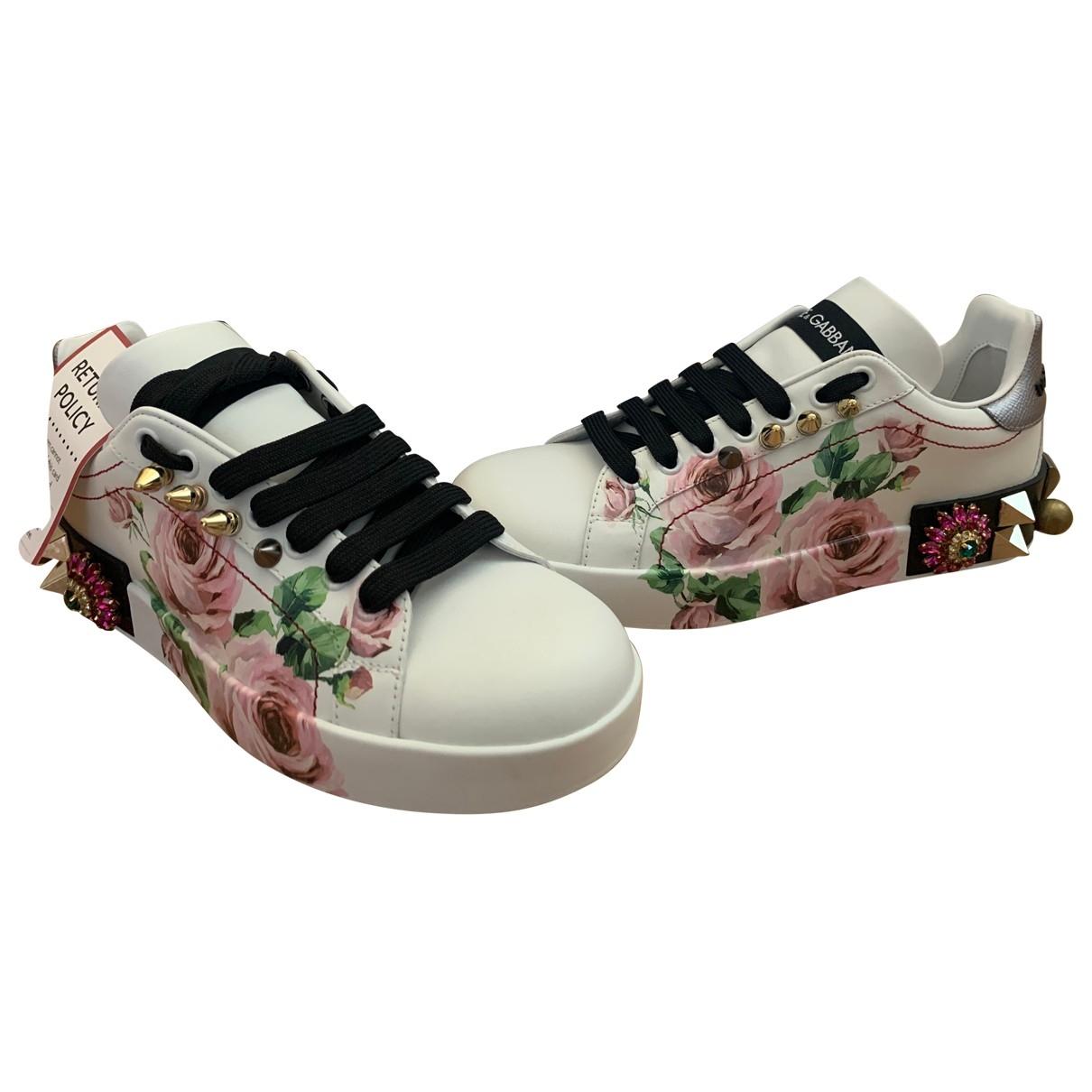 Dolce & Gabbana - Baskets Portofino pour femme en cuir - rose
