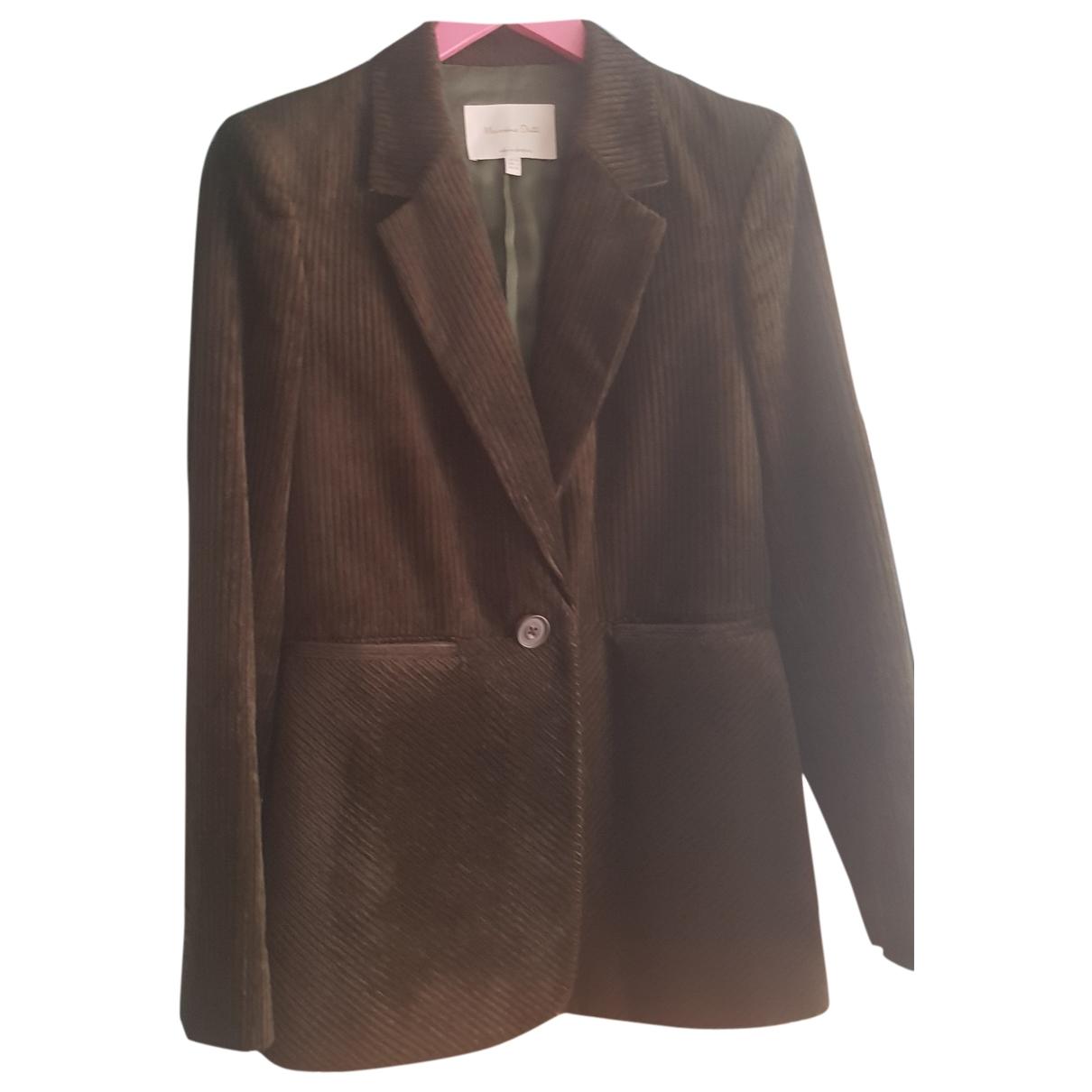 Massimo Dutti \N Green Cotton jacket for Women 36 FR