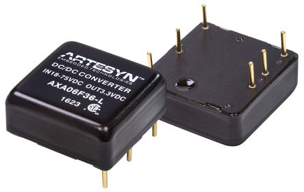 Artesyn Embedded Technologies AXA 25W Isolated DC-DC Converter Through Hole, Voltage in 18 → 75 V dc, Voltage