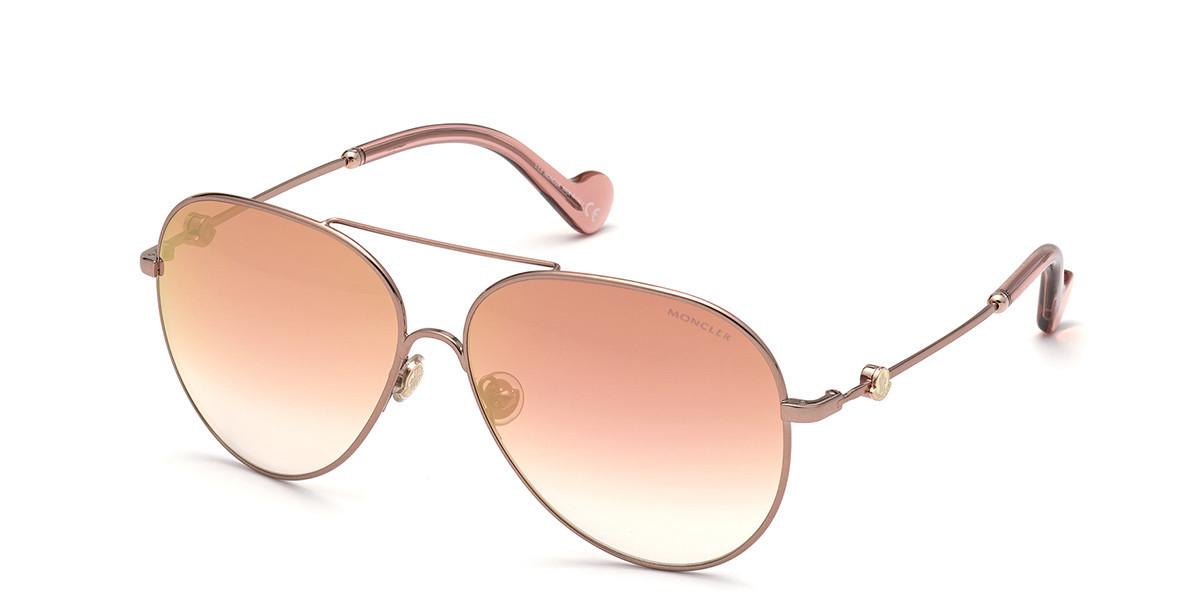 Moncler ML0168 34T Mens Sunglasses Brown Size 60