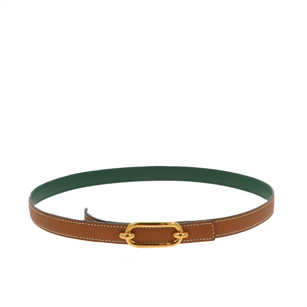 Hermès N Brown Leather belt for Women 70 cm