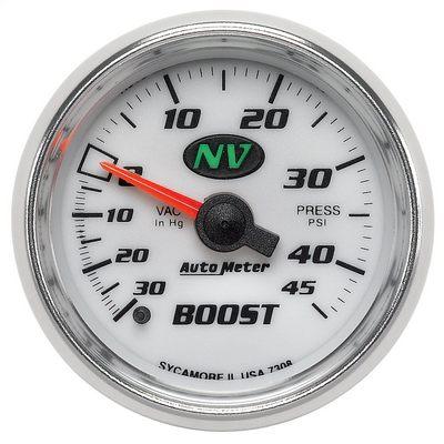 Auto Meter NV Mechanical Boost/Vacuum Gauge, White - AMG7308