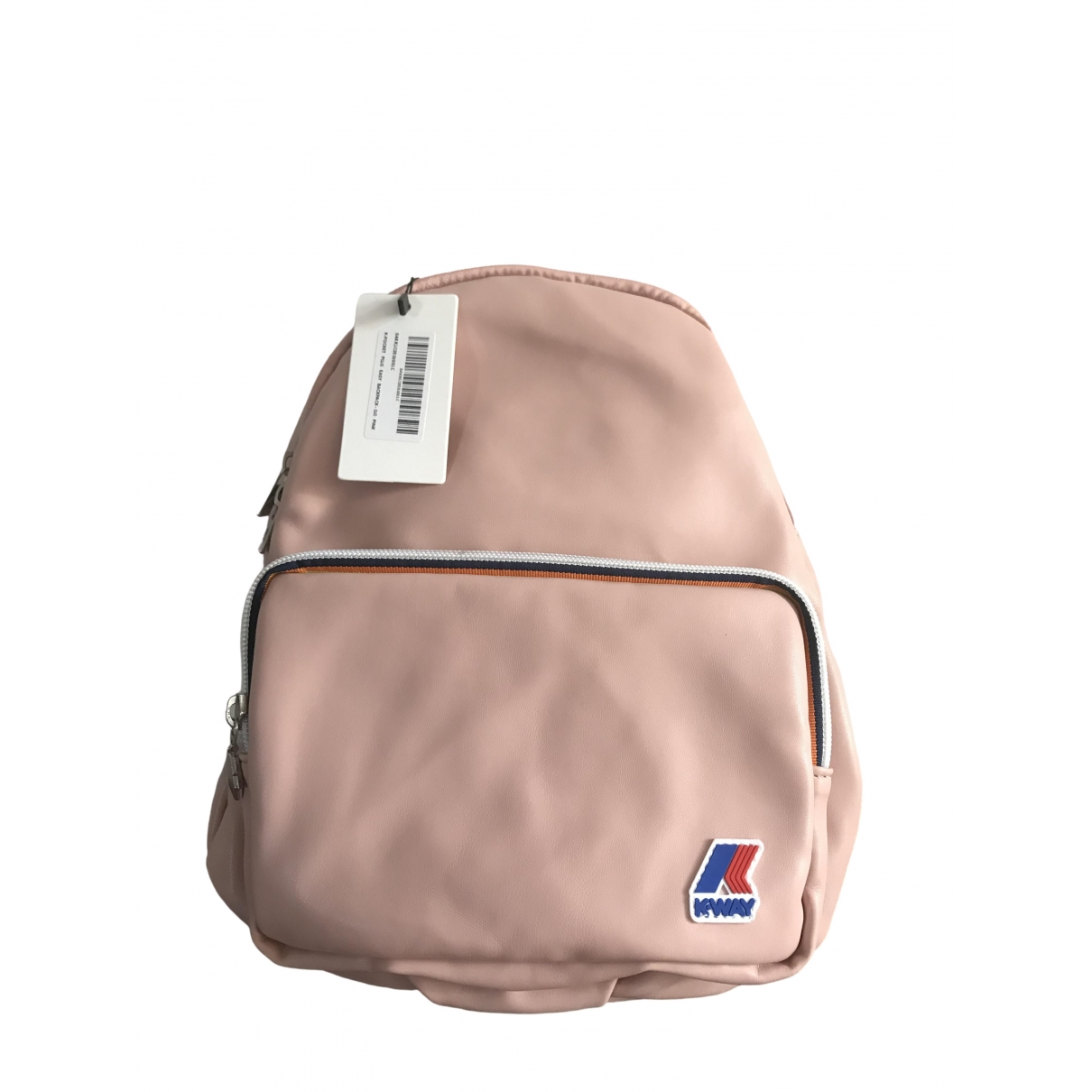 K-way \N Pink Leather backpack for Women \N